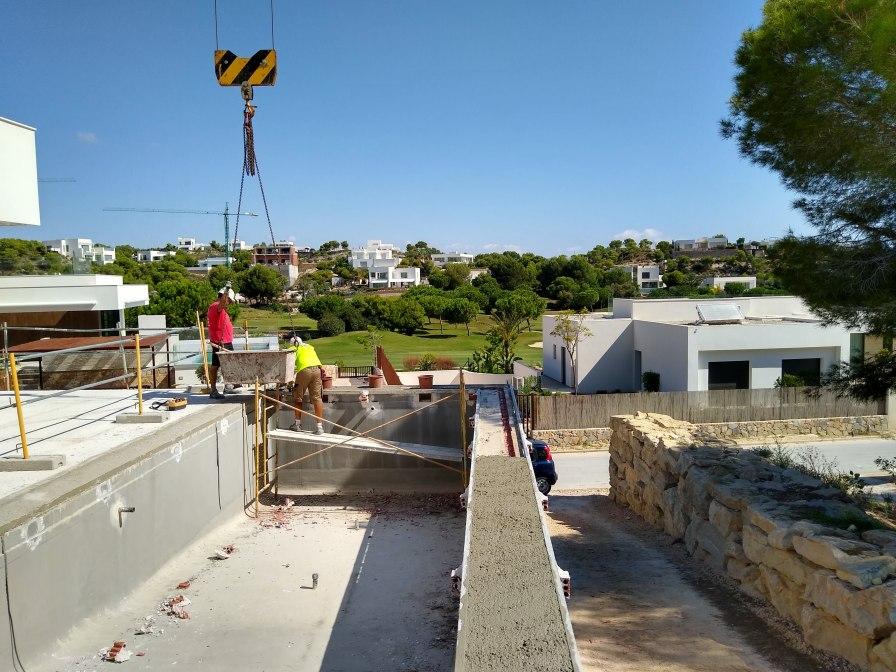 Madrono 34 swimming pool construction in progress
