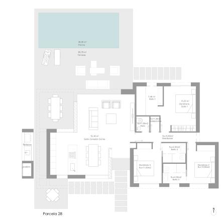 Ciruelo Villa 28 Ground Floor Plan